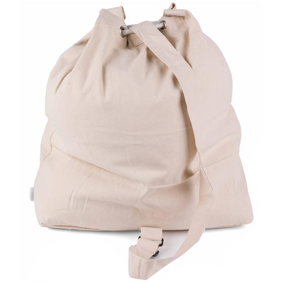 Beldray Oversized Laundry Canvas Backpack, Cotton, Cream