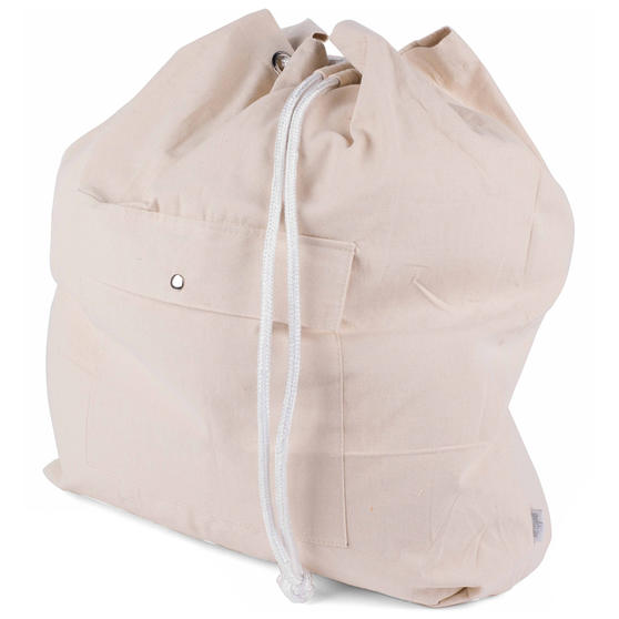 Beldray Oversized Laundry Canvas Backpack, Cotton, Cream Thumbnail 2