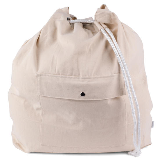 Beldray Oversized Laundry Canvas Backpack, Cotton, Cream Thumbnail 4