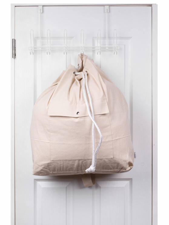 Beldray Oversized Laundry Canvas Backpack, Cotton, Cream Thumbnail 8