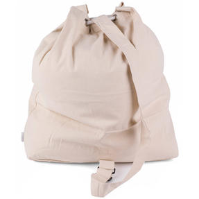 Beldray LA055170EU Oversized Laundry Canvas Backpack, Cotton, Cream