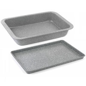 Salter Marble Non-Stick Cookware Collection with Baking Tray and Chopping Boards, 11 Piece Set Thumbnail 8