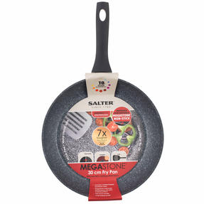 Salter Megastone Collection Non-Stick Complete Family Pan and Frying Pan 30 cm, Silver Thumbnail 3