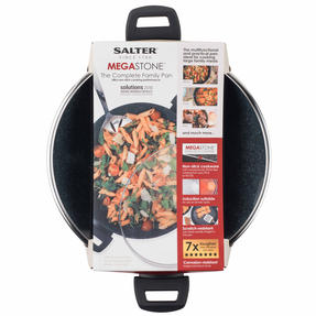 Salter Megastone Collection Non-Stick Complete Family Pan and Frying Pan 30 cm, Silver Thumbnail 4