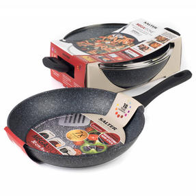 Salter COMBO-3934 Megastone Non-Stick Complete Family Pan and Frying Pan with Nylon Slotted Spatula, 30 cm Thumbnail 9