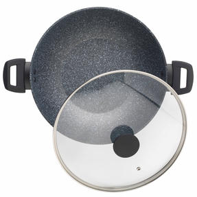 Salter Megastone Collection Non-Stick Complete Family Pan and Frying Pan 30 cm, Silver Thumbnail 5