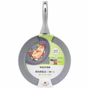 Salter Marble Collection Non-Stick Complete Family Pan and Frying Pan 30 cm, Grey Thumbnail 3
