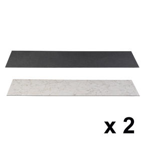 Beldray COMBO-3900 Reversible Laminate Fireplace Hearth Insert in Slate and Alabaster, Set of 2, 1334 x 362 x 3 mm