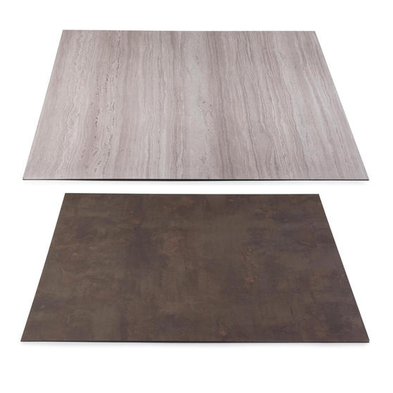 Beldray COMBO-3901 Reversible Laminate Fireplace Hearth Insert and Back Panel, Slate and Limestone