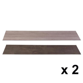 Beldray COMBO-3903 Reversible Laminate Fireplace Hearth Insert in Slate and Limestone, 1334 x 362 x 3 mm, Set of 2