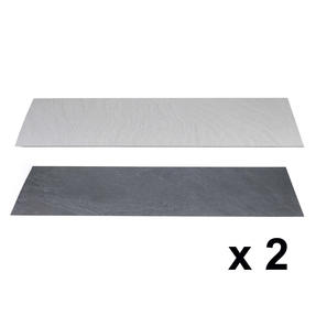 Beldray COMBO-3905 Reversible Laminate Hearth Insert in Granite and Stone, 1334 x 362 x 3 mm, Set of 2