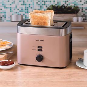 Salter EK3215CHAMPAGNE Vega Two-Slice Toaster, 930 W, Metallic Champagne Thumbnail 3