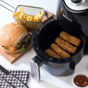 Beldray EK2817BGP Compact Hot Air Fryer, 2 L, 1000 W, Black/Silver Thumbnail 10