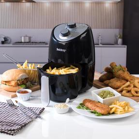 Beldray EK2817BGP Compact Hot Air Fryer, 2 L, 1000 W, Black/Silver Thumbnail 5