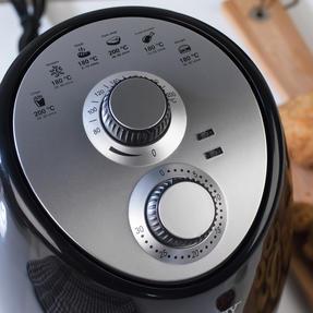 Beldray EK2817BGP Compact Hot Air Fryer, 2 L, 1000 W, Black/Silver Thumbnail 7