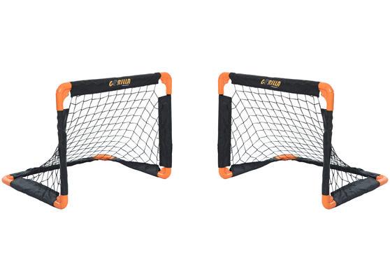 Gorilla Training 70307 Metal Pop-Up Football Goals Twin Pack, 55 x 43 cm, Black/Orange