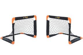 Gorilla Training 70307 Metal Pop-Up Football Goals Twin Pack, 55 x 43 cm, Black/Orange Thumbnail 1