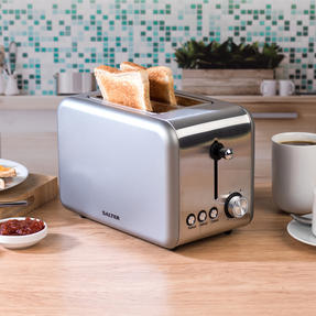 Salter EK2652TITANIUM Metallics Polaris 2-Slice Toaster, 850W, Titanium Edition Thumbnail 2