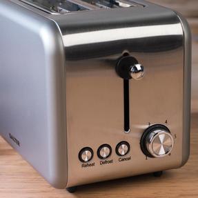 Salter EK2652TITANIUM Metallics Polaris 2-Slice Toaster, 850W, Titanium Edition Thumbnail 6