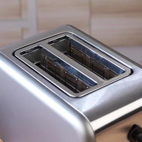 Salter EK2652TITANIUM Metallics Polaris 2-Slice Toaster, 850W, Titanium Edition Thumbnail 8