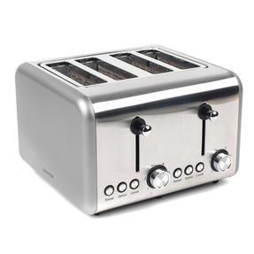 Salter EK3352TITANIUM Metallics Polaris 4-Slice Toaster, 1500W, Titanium Edition