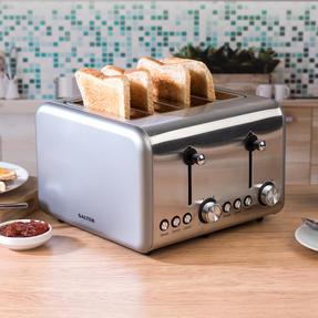 Salter EK3352TITANIUM Metallics Polaris 4-Slice Toaster, 1500W, Titanium Edition Thumbnail 2