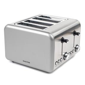 Salter EK3352TITANIUM Metallics Polaris 4-Slice Toaster, 1500W, Titanium Edition Thumbnail 4