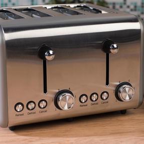 Salter EK3352TITANIUM Metallics Polaris 4-Slice Toaster, 1500W, Titanium Edition Thumbnail 5