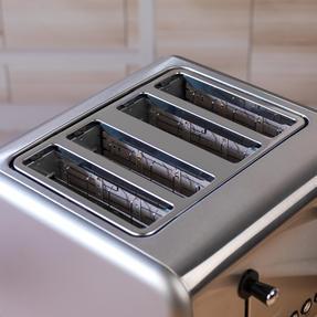 Salter EK3352TITANIUM Metallics Polaris 4-Slice Toaster, 1500W, Titanium Edition Thumbnail 7