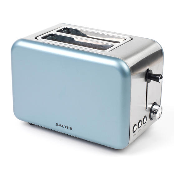 Salter Metallics Polaris 2-Slice Toaster, 850W, Pearl Blue Edition