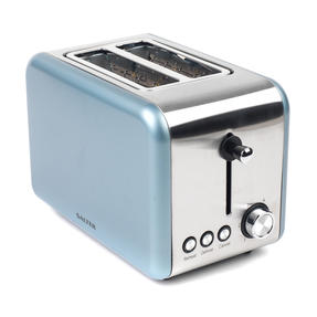 Salter Metallics Polaris 2-Slice Toaster, 850W, Pearl Blue Edition Thumbnail 3