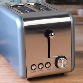 Salter Metallics Polaris 2-Slice Toaster, 850W, Pearl Blue Edition Thumbnail 5