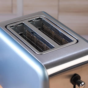 Salter Metallics Polaris 2-Slice Toaster, 850W, Pearl Blue Edition Thumbnail 7