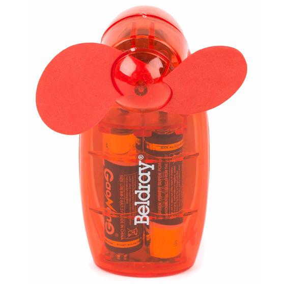 Beldray Mini Lipstick Hand Fan, 3V, Red