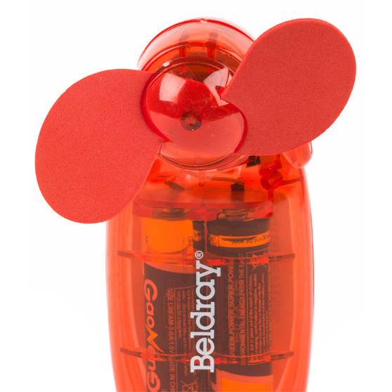 Beldray Mini Lipstick Hand Fan, 3V, Red Thumbnail 4
