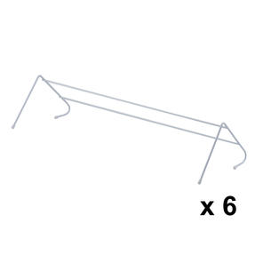 Beldray COMBO-3984 Radiator Clothes Drying Airer, Pack Of 6, 3 Metres Drying Space