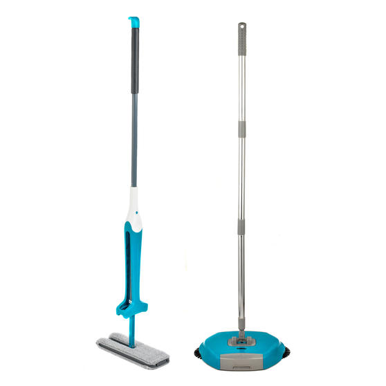 Beldray COMBO-3988 Double Sided Squeegee Mop with Hard Floor Spinning Sweeper