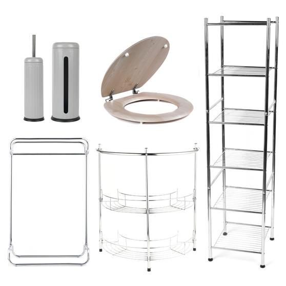 Beldray COMBO-3979 Bathroom Storage Unit and Toilet Accessory Set