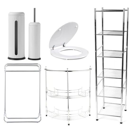 Beldray COMBO-3980 Bathroom Storage Unit and Toilet Accessory Set