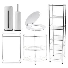 Beldray COMBO-3980 Bathroom Storage Unit and Toilet Accessory Set Thumbnail 1
