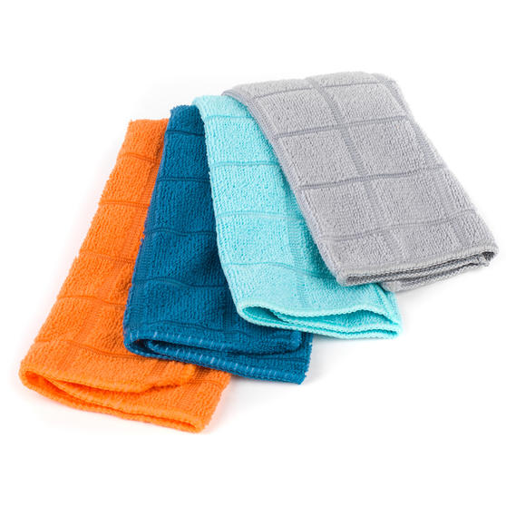 Beldray Microfibre Cleaning Dusting Cloths, Pack of 4, Assorted Colours