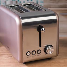 Salter EK2652CHAMPAGNE Metallics Polaris 2-Slice Toaster, 850W, Champagne Edition Thumbnail 4