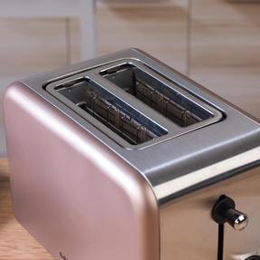 Salter EK2652CHAMPAGNE Metallics Polaris 2-Slice Toaster, 850W, Champagne Edition Thumbnail 6