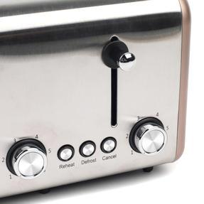 Salter EK3352CHAMPAGNE Metallics Polaris 4-Slice Toaster, 1500W, Champagne Edition Thumbnail 7
