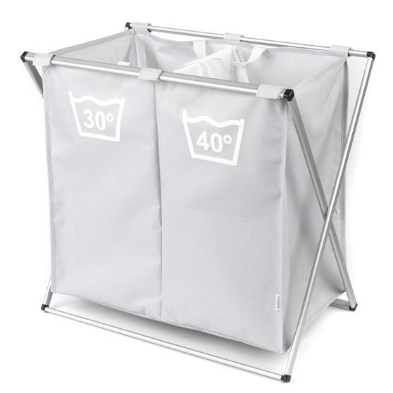 Beldray LA041074GRYEU Double Sorter Laundry Hamper, Grey Thumbnail 1