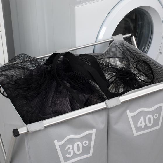 Beldray LA041074GRYEU Double Sorter Laundry Hamper, Grey Thumbnail 6
