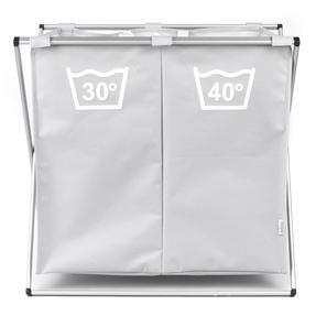 Beldray LA041074GRYEU Double Sorter Laundry Hamper, Grey Thumbnail 2