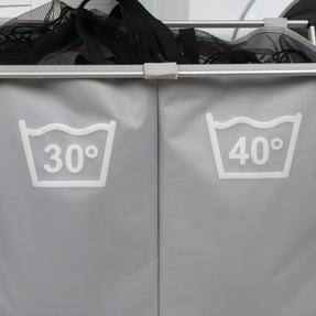 Beldray LA041074GRYEU Double Sorter Laundry Hamper, Grey Thumbnail 7