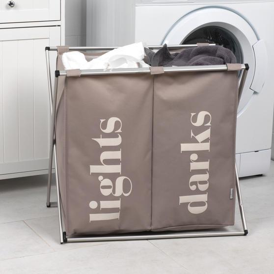 Beldray LA041074NATEU Double Sorter Laundry Hamper, Natural Thumbnail 4