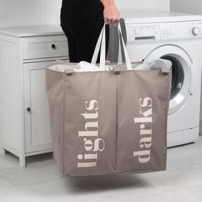 Beldray LA041074NATEU Double Sorter Laundry Hamper, Natural Thumbnail 5